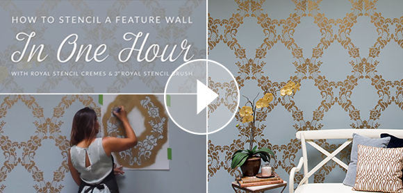 How to Stencil a Wall in 1 Hour - Video Tutorial using Royal Design Studio Wall Stencils