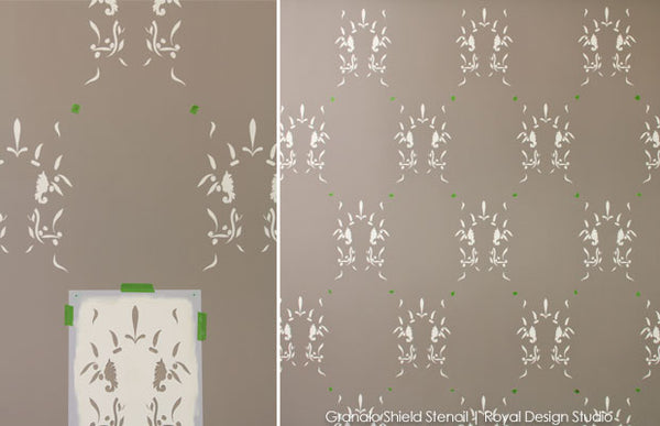 Stencil an Accent Wall: Old World is New Again - DIY Tutorial from Royal Design Studio