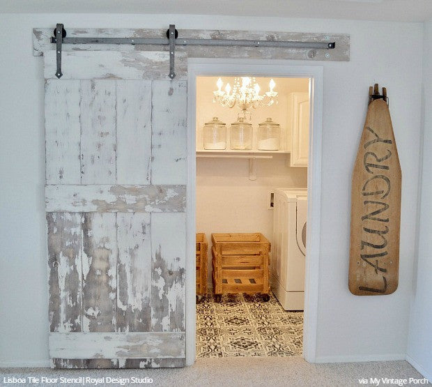 Diy Floor Stencils For Painting Vintage Farmhouse Style