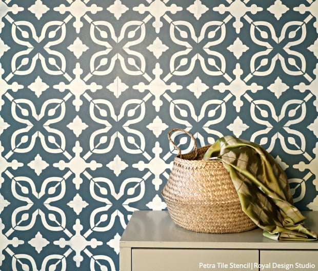 How to Stencil a Wall with Just Paint! DIY Tutorial Video - How to Paint Walls with Wall Stencils for Painting - DIY Decor Wall Design Stencils from Royal Design Studio Stencils