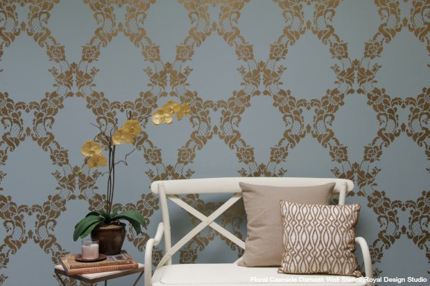 How to Stencil an Accent Wall in Only an Hour (VIDEO TUTORIAL) - Royal Design Studio