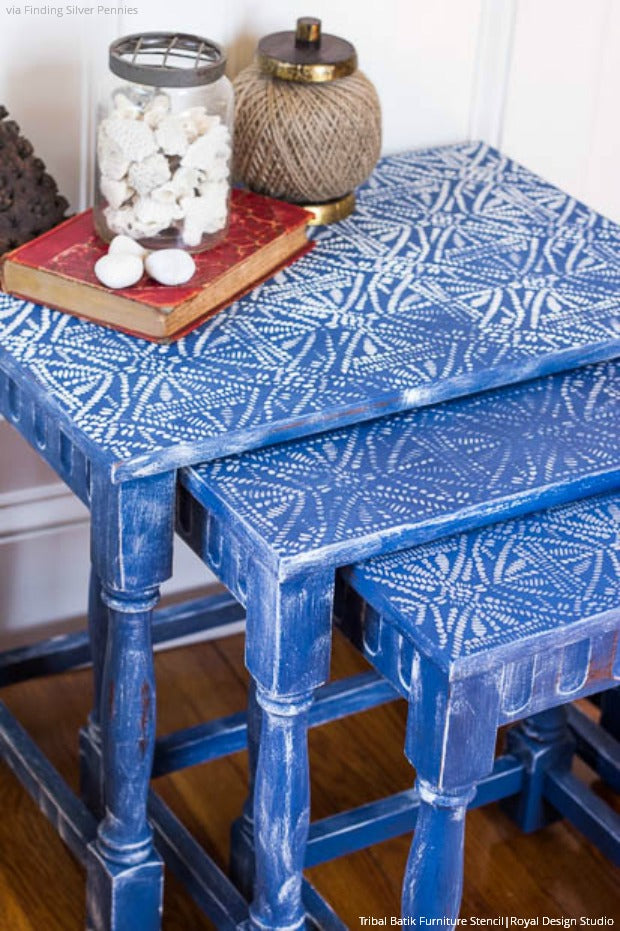 Color Trend: 8 Indigo Blue Stencil Décor Ideas