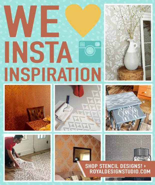 Amazing Stencil Projects Ideas for Insta-Inspiration - The Best 18 Instagram Photos using Royal Design Studio Wall Stencils, Floor Stencils, and Furniture Stencils