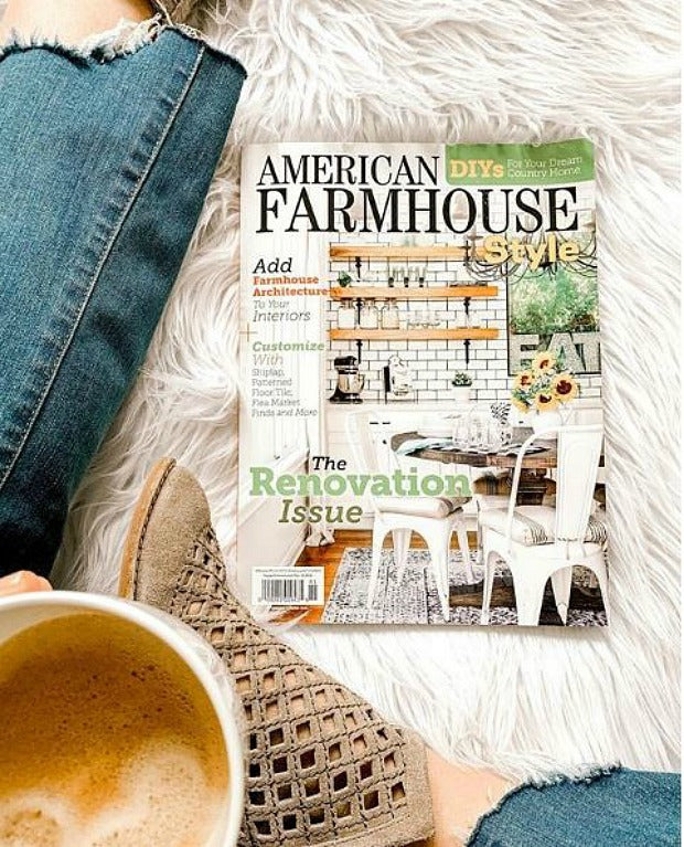 Floor Tile Stencils in American Farmhouse Style Magazine! - Shabby Chic DIY Decor Project with Farmhouse Stencils, Tile Stencils, Floor Stencils from Royal Design Studio