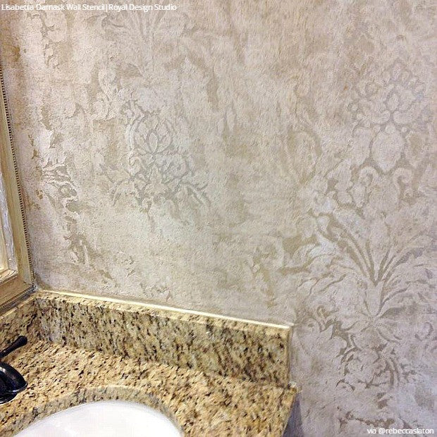 Wall Stencils: The Secret to Remodeling Your Bathroom on a Budget - 18 DIY Decor Ideas from Royal Design Studio