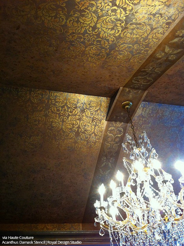 Top It Off: 18 of the Prettiest Ceiling Designs using Ceiling Stencils from Royal Design Studio
