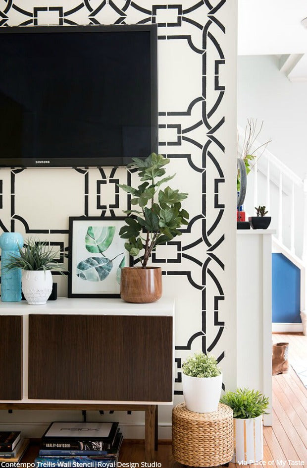 Glitter Guide Loves Royal Design Studio Wall Stencils! DIY Home Decor Ideas that are FAST and EASY!