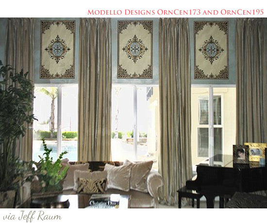 Use Stencils to Add Pattern to Fabric, Window Drapes and Curtains | Royal Design Studio