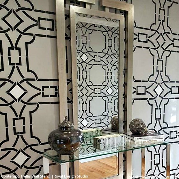 25 DIY Ideas for Your Room! Inspiring Home Decorating Projects with Wall Stencils & Floor Stencils from Royal Design Studio