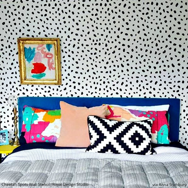 18 Unbelievable Bedroom Wall Stencils that Will Leave You Dreaming - DIY Feature Wall Decor Ideas using Royal Design Studio Stencil Patterns for Painting