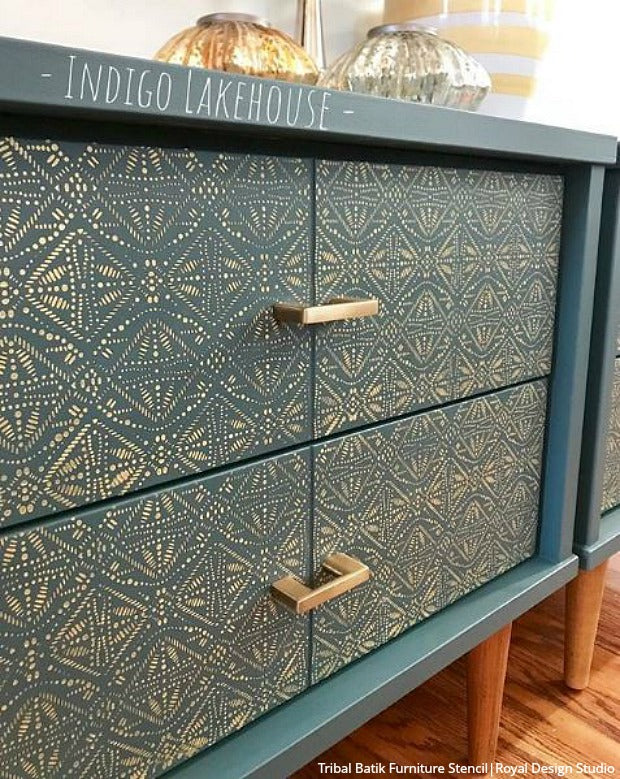 Insta-ideas for DIY Home Decorating Hacks from Instagram - Easy and Cheap Decor Ideas that Anyone Can Do with Paint and Pattern - Wall Stencils, Furniture, Stencils, Floor Stencils from Royal Design Studio royaldesignstudio.com