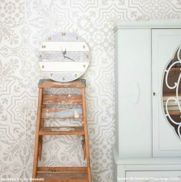 Tile Trend: 12 DIY Home Decor Ideas to Make it Easy and Affordable with Stencils from Royal Design Studio