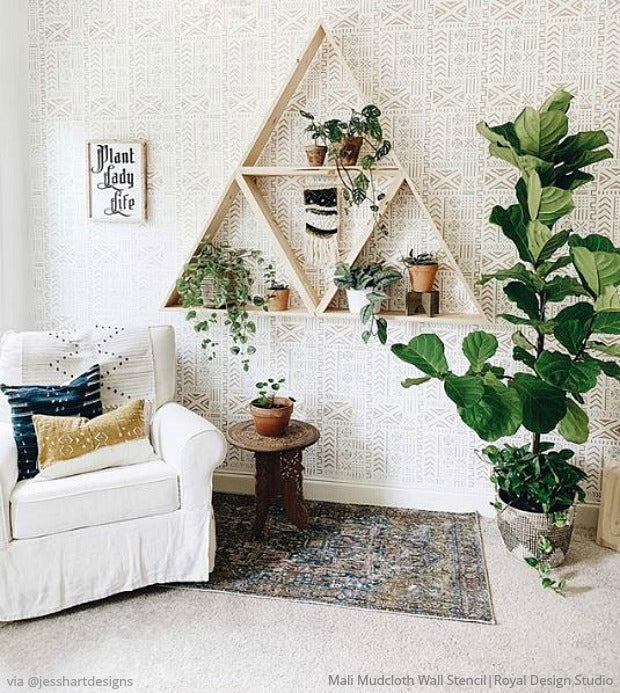Decorating Your Dream Home with Inspiration from Instagram Influencers - Wall Stencils, Floor Stencils, and Furniture Stencils for Painting DIY Decor from Royal Design Studio
