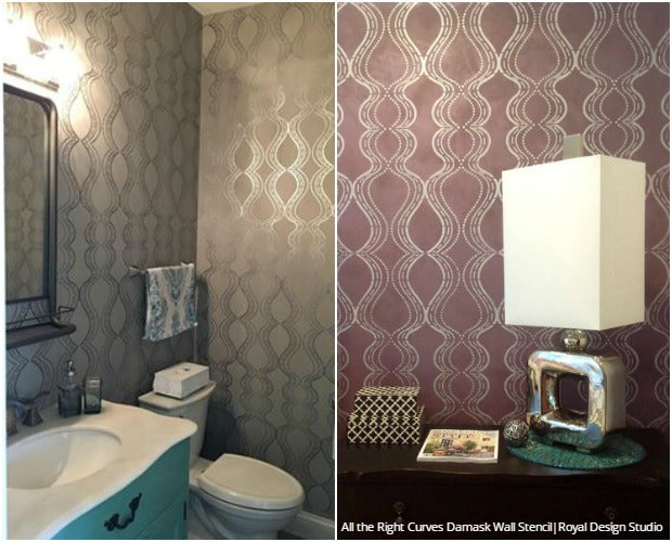 Design Challenge: Colorful vs Neutral Stencil Ideas using Wall Stencils from Royal Design Studio