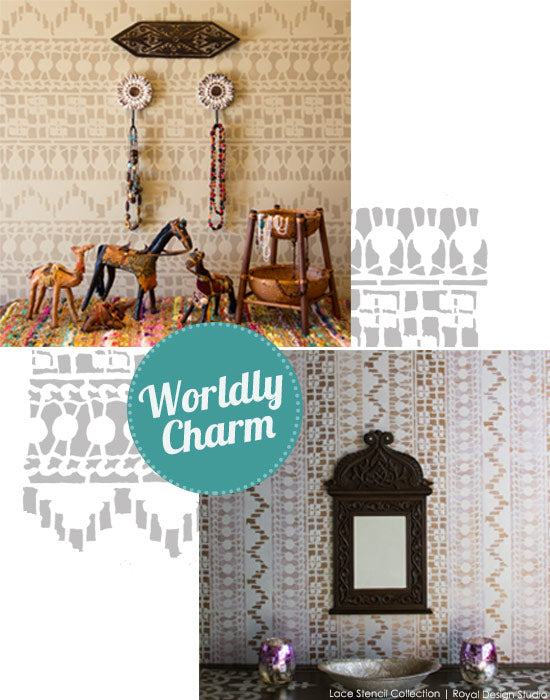 Moroccan Inspired Lace Stencils for Trendy DIY Home Decor