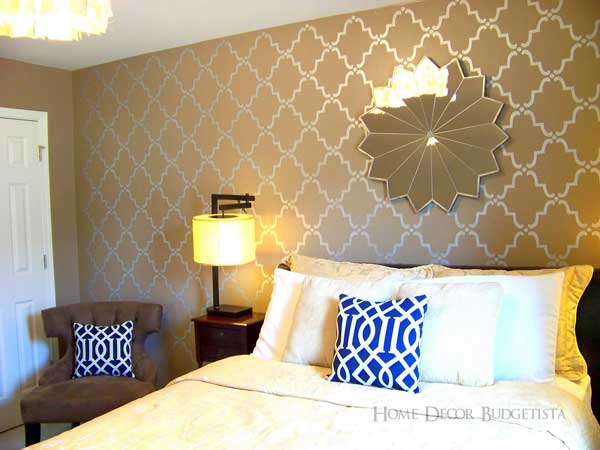 Design Stencils For Walls: Our Moroccan Wall Stencils Update This Guest Room