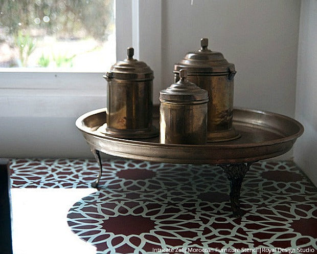 Easy DIY Ideas with Moroccan Furniture Stencils
