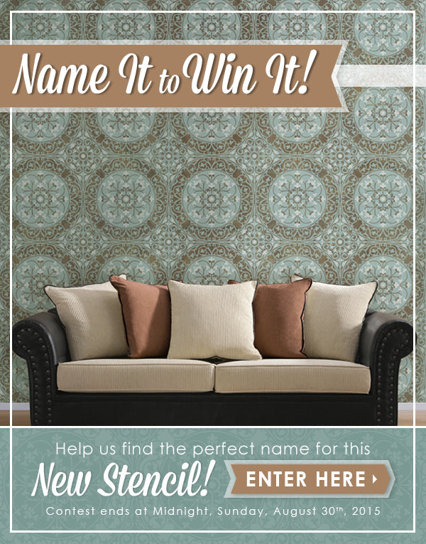 Gorgeous Tile Stencils that you can WIN if you NAME it! - Royal Design Studio Tile Stencils