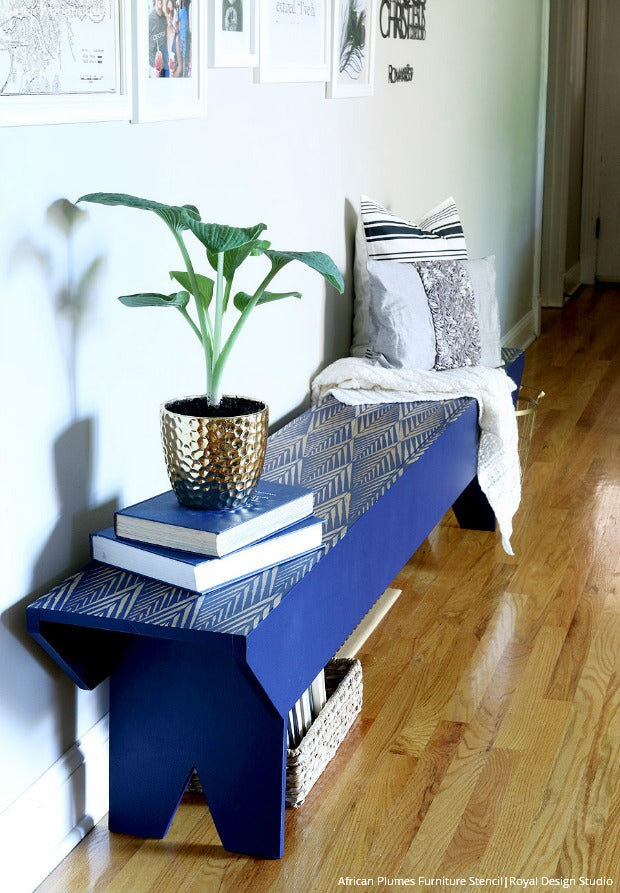 12 Affordable Decorating Ideas with Furniture Stencils