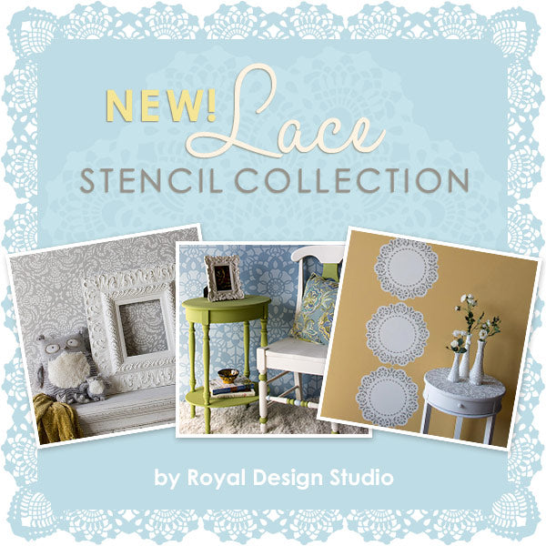 New Lace Stencil Collection for Trendy Home Decor by Royal Design Studio