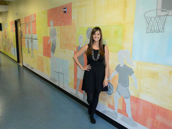 Artist Nichole Blackburn's donates mural in Newtown, CT | Royal Design Studio