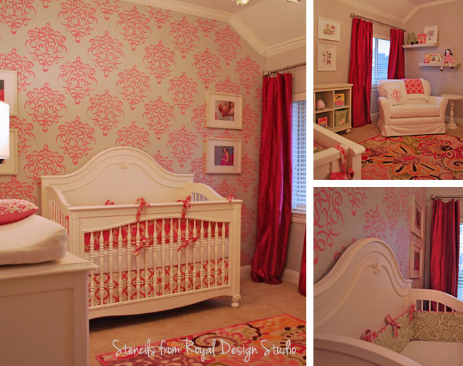 cute stenciled nursery