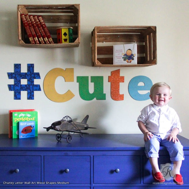 Craft Stencil VIDEO Tutorial: Cute Wall Art Letters for Kids Room Decor