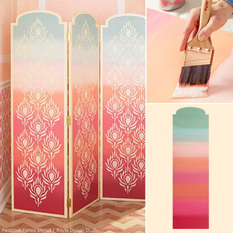 DIY Ombre Stenciling Project | Royal Design Studio