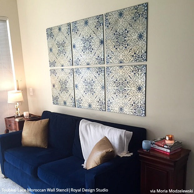 16 Best Diy Stencils Images On Pinterest: Do It Yourself: 16 Stenciled Wall Art Ideas