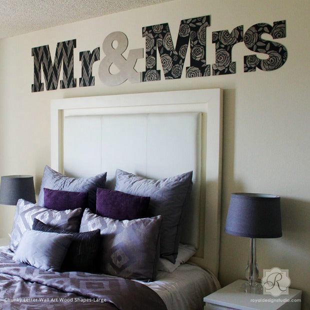 Say It with Craft Stencils  Letter Wall Art Ideas Nursery Decor Wedding Gifts Easy DIY Royal Design