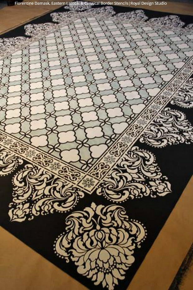 15 Diy Stylish Stenciled Rug Projects Royal Design