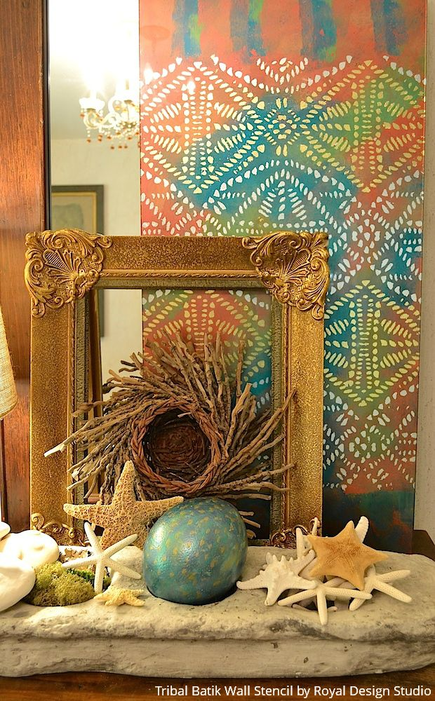 Stenciled Glass and Mirror Project Ideas that Shine - DIY Ideas using Royal Design Studio Stencils
