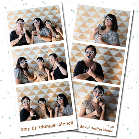 DIY Wedding Project! Stencil your own fun Photo Booth Backdrop with Modern Stencils from Royal Design Studio