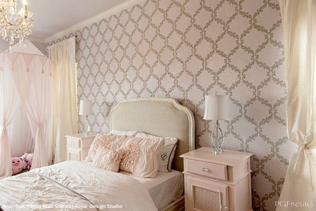Delightful 11 DIY Wall Stencil Ideas For Dreamy Romantic Bedroom Decor   Royal Design  Studio