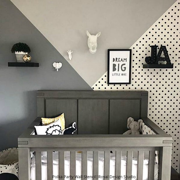 The Cutest Nurseries & Kids Rooms Ever using Wall Stencils ...