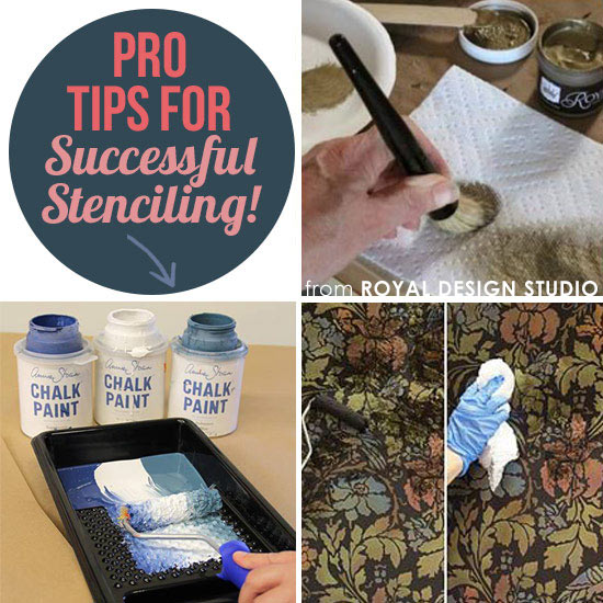 Stencil tips and techniques from Royal Design Studio