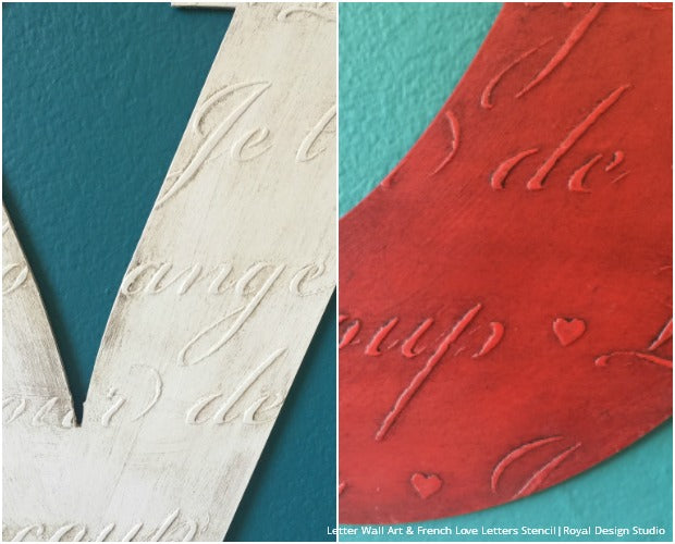 How to Stencil Embossing VIDEO Tutorial with Wall Art Letters from Royal Design Studio