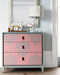 how to stencil furniture stenciled dresser