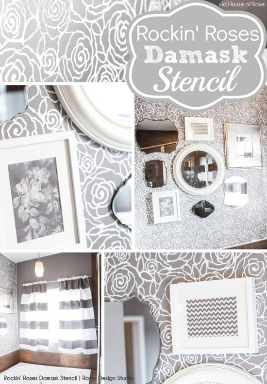 Updating a Tired Bathroom with Stencils