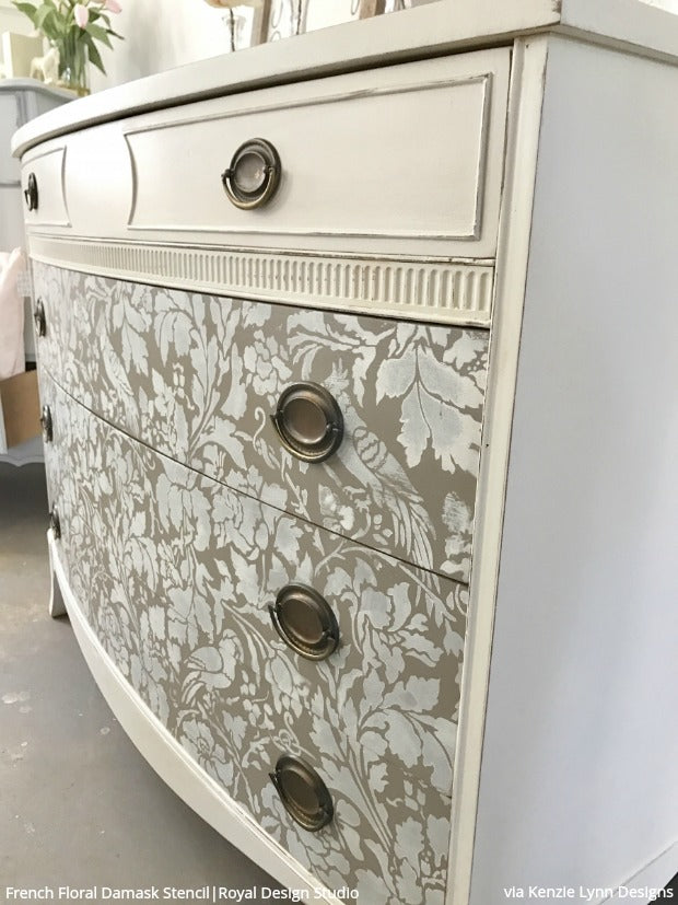 The BEST Furniture Makeovers at the General Finishes Design Challenge - Furniture Refinishing and DIY Stencil Patterns for Painting - Royal Design Studio Furniture Stencils