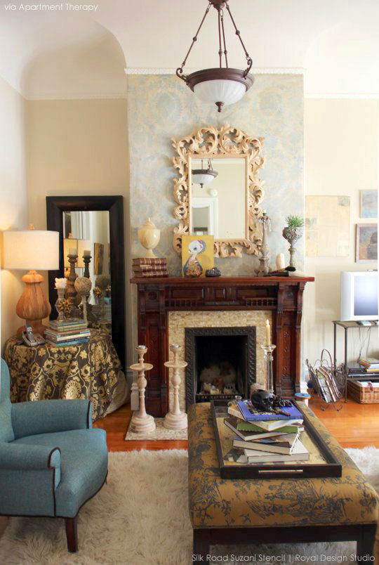Diy Stencil Pattern Ideas For A Stylish Fireplace Makeover
