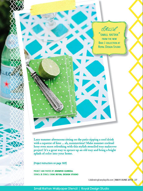 Stencil Tray DIY with Royal Design Studio Stencils | Project featured in Celebrating Everyday Life with Jennifer Carroll
