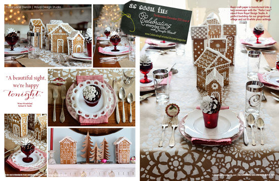 Celebrating Everyday Life Creates a Winter Wonderland with Parlor Lace Stencil