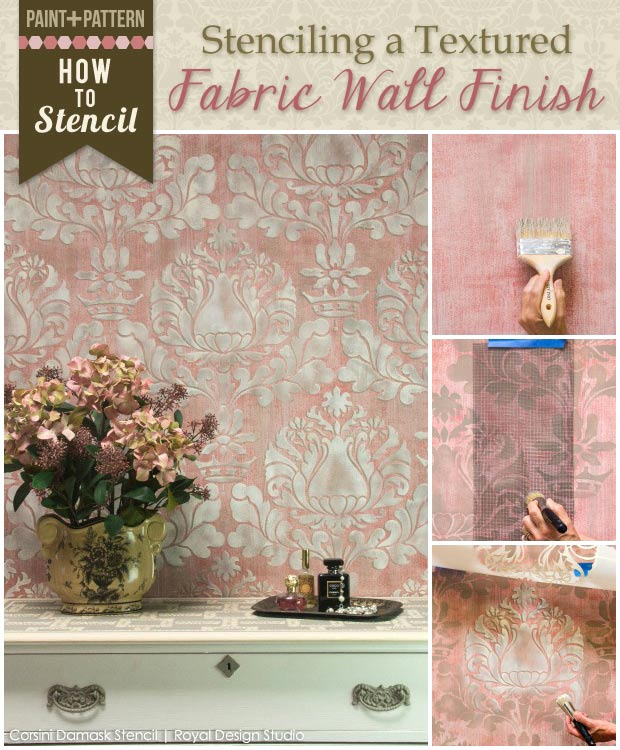 Learn how to stencil and paint wall finishes with Royal Design Studio stencil tutorials