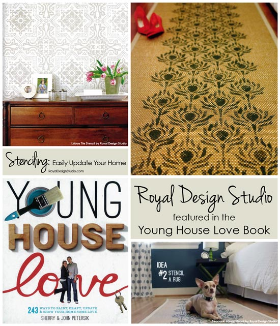 Easily Update Your Home with Stencil Projects found in the popular Young House Love book