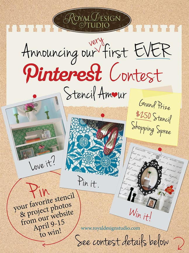 Stencil contest on Pinterest by Royal Design Studio