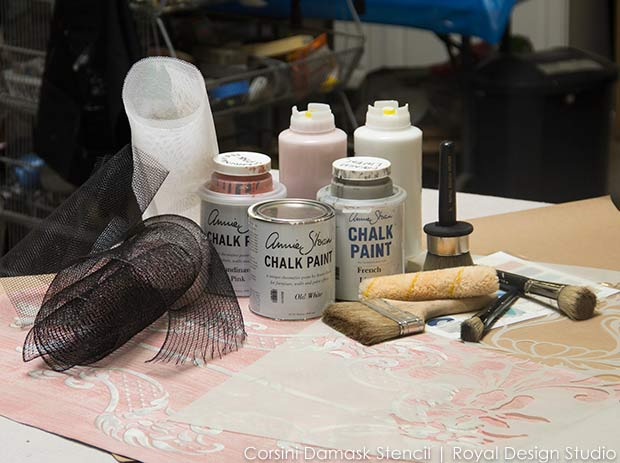 Stencil and Paint Supplies for Royal Design Studio wall stencil projects
