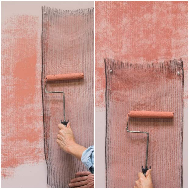 Paint Rollers and Stencil Supplies from Royal Design Studio - Paint a Pink Textured Wall Finish
