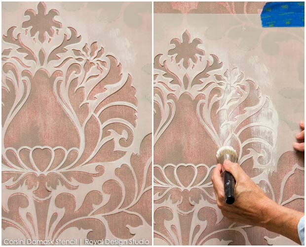 Wall Stencils for Painting - How To Paint Accent Walls with Royal Design Studio