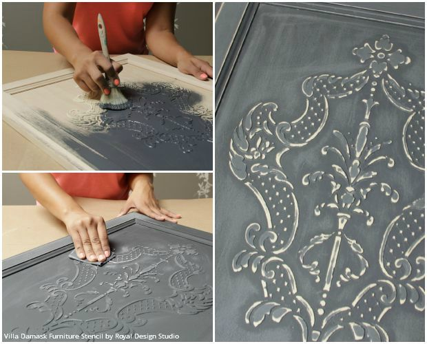 How To Stencil Create A Diy Raised Carved Wood Effect